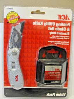 Ace Hardware Folding Utility Knife and Blade Set with 50 Bla