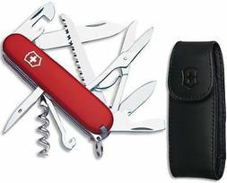 Victorinox Huntsman Swiss Army Knife w/Bottle Opener, Red, w