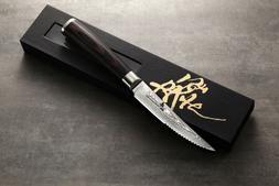 ZHEN Japanese VG-10 67 Layers Damascus Premium Steak knife 4