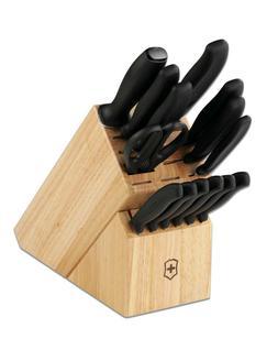 Victorinox Kitchen Knife Block Set 15pc Cutlery Set 6.7000.1