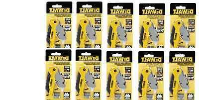 10 pack DEWALT RETRACTABLE FOLDING Utility Knife DWHT10035L