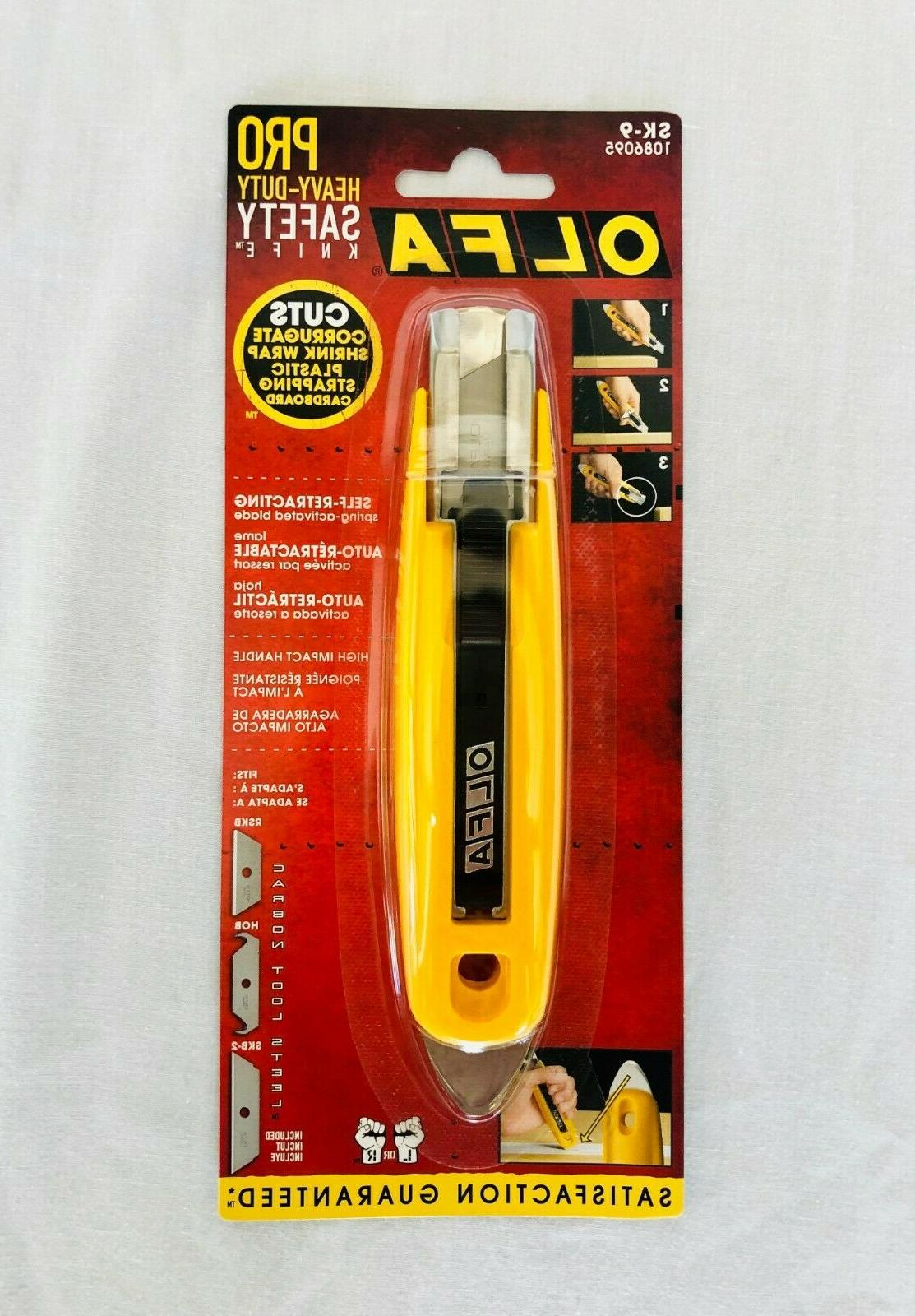 OLFA 1086095 SK-9 Self-Retracting Safety Knife With Tape Sli