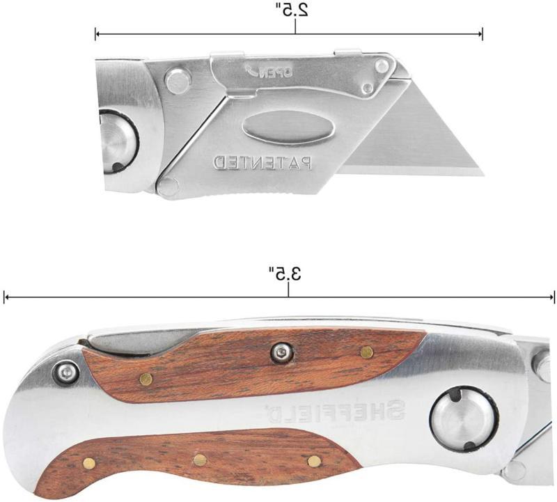Sheffield Lock Back Knife Folding Box Cutter Clip