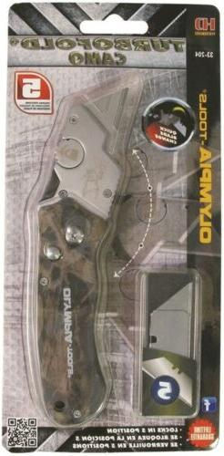 33-204 Olympia Tools TURBOFOLD CAMO GREEN Turbo Fold Folding