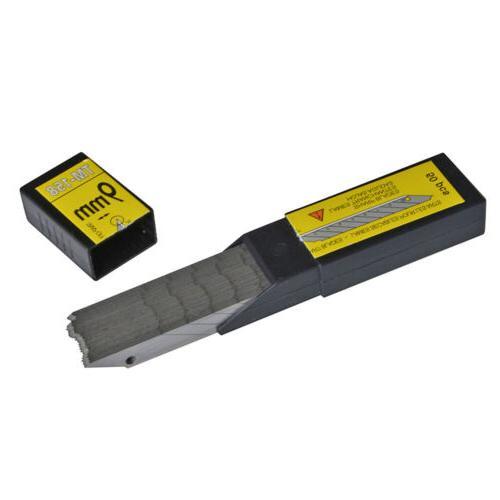 50 Carbon Steel Utility Knife Blade Snap-off Handle Knife