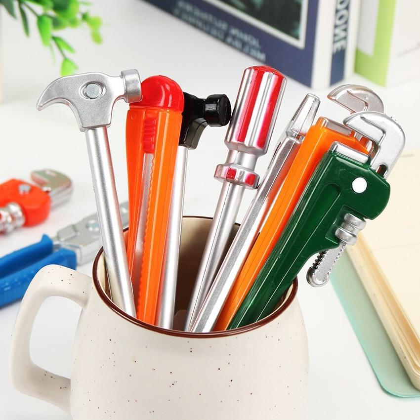 6PCS Personality Hardware Tools Pens Hammer Pen