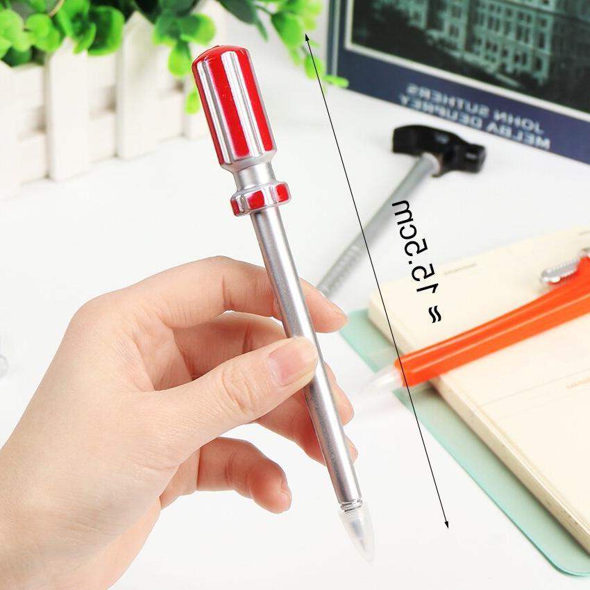 6PCS Personality Korean Stationery Pens Quality Pen Hammer <font><b>Knife</b></font> Writing Pen
