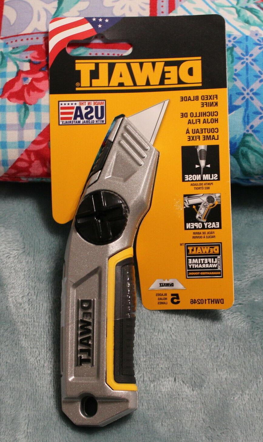 DEWALT Utility Knife,Fixed Blade,8 in., DWHT10246