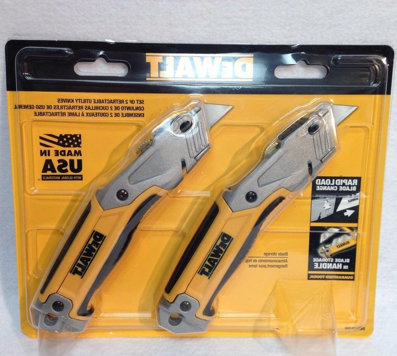 DeWalt DWHT71700 Retractable 2 Pack Utility Knife - Made in