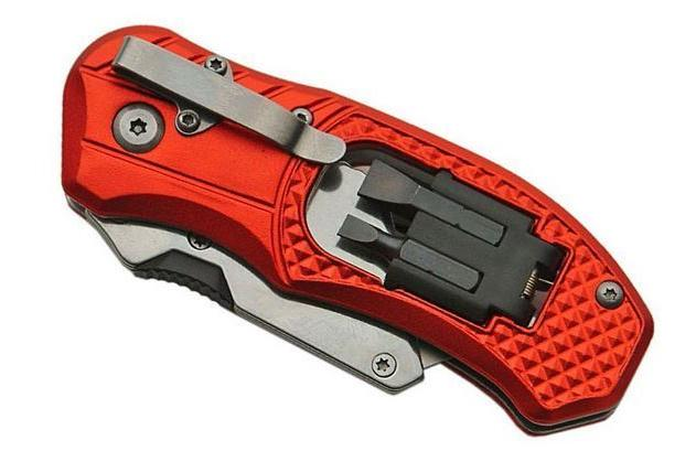 Folding Lock Knife Cutter Clip 5 Blades With