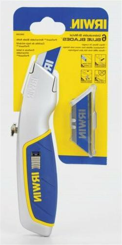 Irwin 1774106 Retractable Utility Knife, 5-3/4 in Fixed Blad