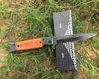 New SOG Wood Handle 440C Blade Spring Assisted Opening Pocke