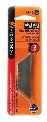 NEW Techni Edge, Type Utility Knife Blades, 5 Blades Per Pac
