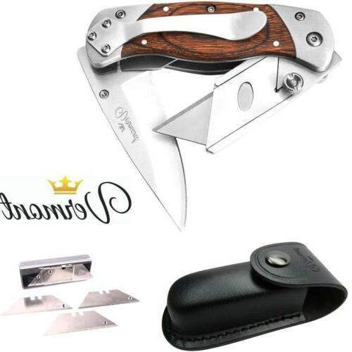 Vermont Best Folding Utility Knife 2 in1 - Handy Box Cutter