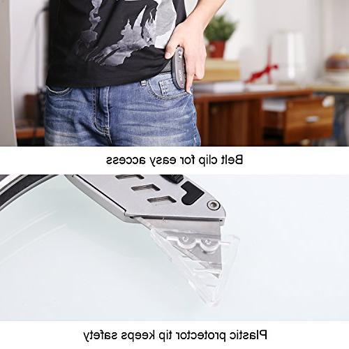 Utility Knife, Tacklife Box Duty Knife 5 Extra Lightweight Aluminum Body, Design Blades