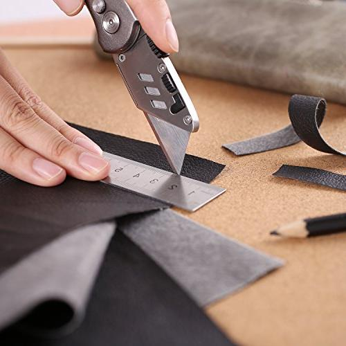 Utility Knife, Tacklife Box Cutter Duty Utility 5 Lightweight Aluminum Body, Lock-Back Design Blades