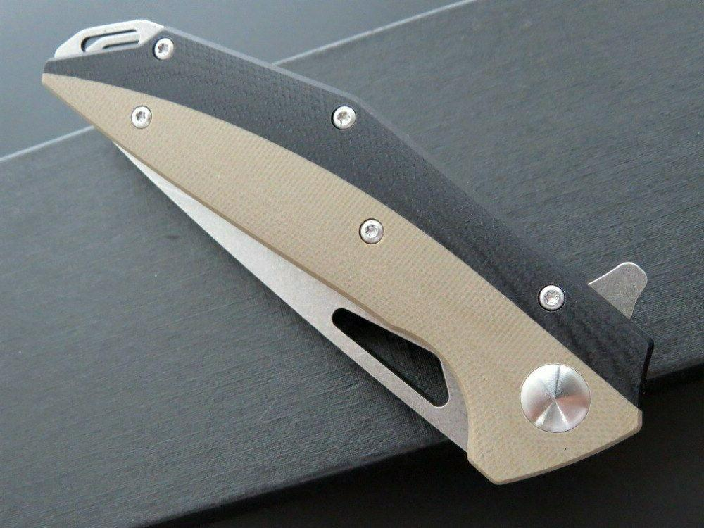 D2 Blade G10 Ball Bearing System Folding Knife Tactical