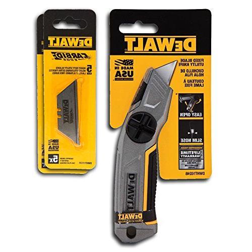 dewait fixed blade utility knife