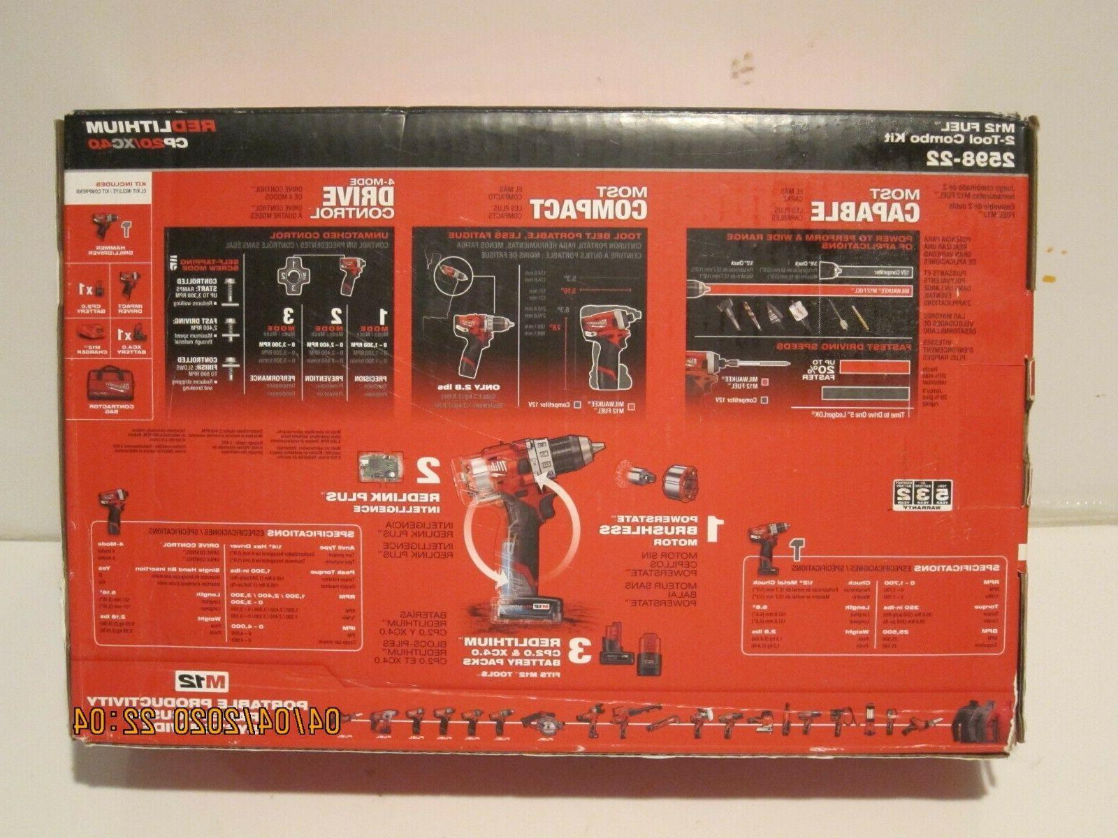 Milwaukee 2598-22 2-Tool Hex Impact F/SP