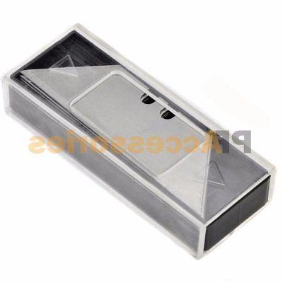 Folding Lockback Utility Pocket Knife Box Cutter 5 Clip