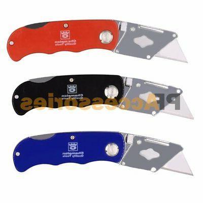 folding lockback utility pocket knife box cutter