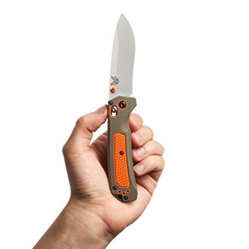 Benchmade - 15061 Hunting Knife in USA, Edge, Satin Finish, Orange Handle