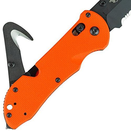 Benchmade Knife, Bevel Serrated Edge,