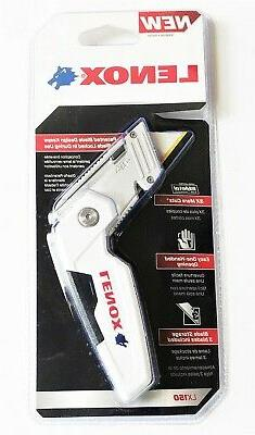 LENOX LOCK BACK FOLDING UTILITY KNIVES RAZOR KNIFE WITH 3 BI