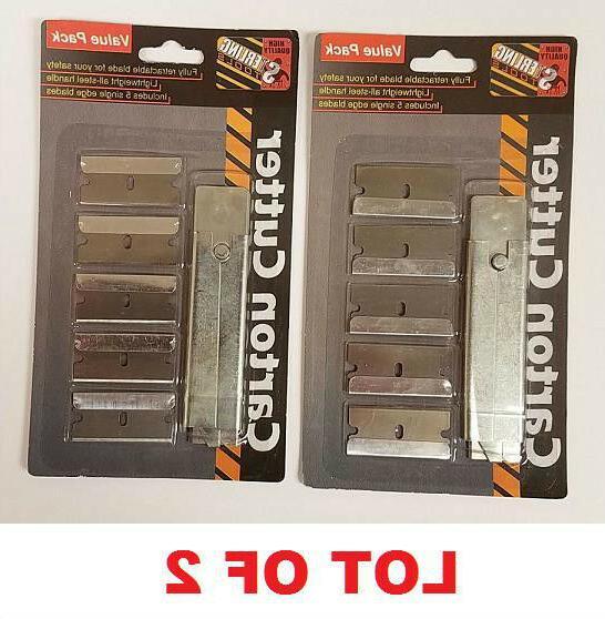 lot of 2 carton box cutter w