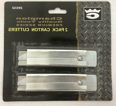LOT OF 2 Carton Box Pocket Compact Utility Knife NEW