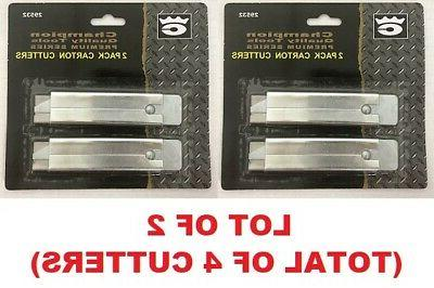 lot of 2 carton box cutters pocket