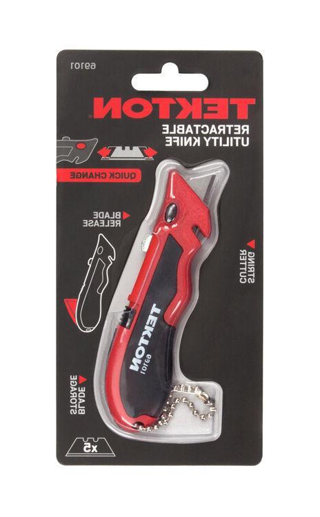 Mini Quick-Change Retractable Keychain Utility Knife TEKTON