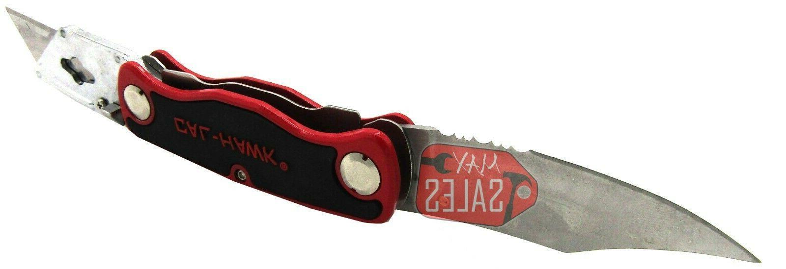 New Dual Blade Change Folding Lock Back Utility Knife