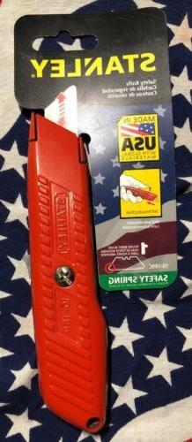 """Orange Stanley Safety Utility Knife, 5-7/8"""", Stanley, Razor"""