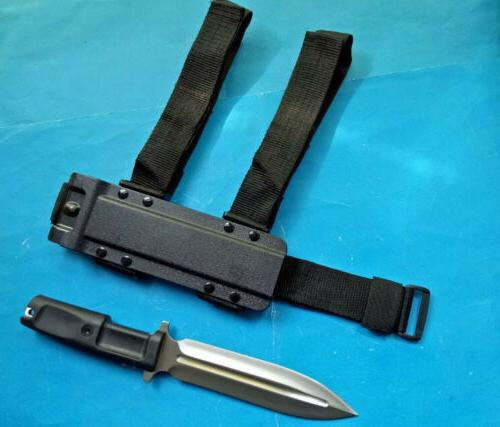 SHARP DOUBLE UTILITY BOOT CAMPING BOWIE HUNTING KNIFE