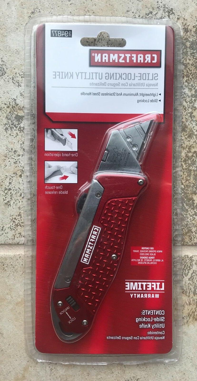 Craftsman Slide-Locking Utility Knife Model 994877
