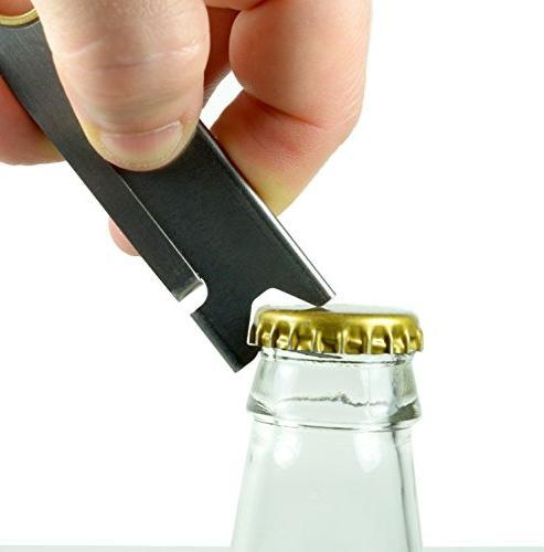 Screwpop Ron's Keychain Utility Knife Steel Multi-Tool Bottle