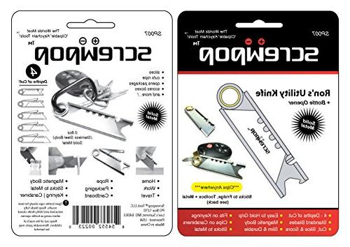 Screwpop Ron's Keychain Knife Stainless Multi-Tool
