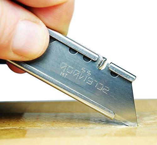 Screwpop Keychain Utility Knife Stainless Steel Multi-Tool Opener