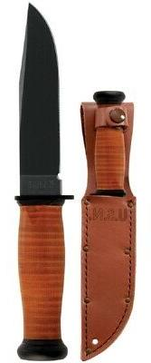 Ka-Bar Straight Leather Handled Mark 1 Knife
