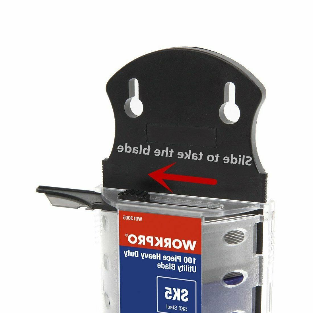 WORKPRO Knife Dispenser Steel 100-pack