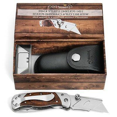 Vermont Best Folding Utility Knife in1 Handy Box Cutter Heavy-Duty