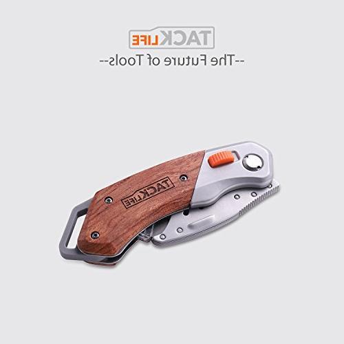 Utility Box Folding Pocket Utility Knife 5 Extra Double-Sided Handle, Lock-Back Blades