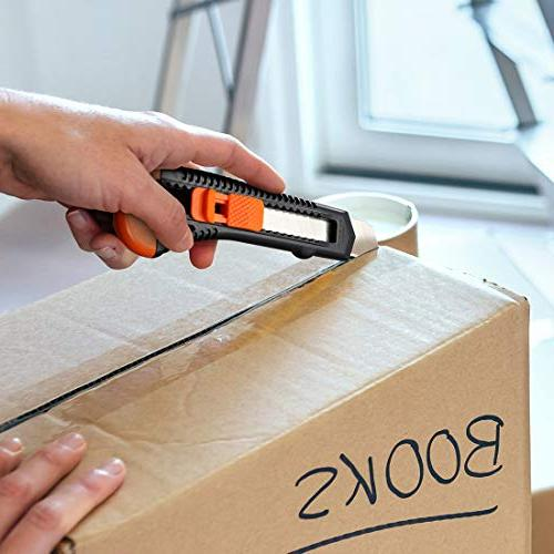 Lnchett 12-Pack Utility Retractable Box Cutter for Cartons, and 18mm Blade, Mechanism, Perfect for Home use