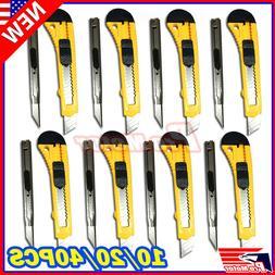 Lot Knife Utility Box Cutter Retractable Snap Off Lock Razor