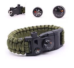 Camping Paracord Survival Bracelet Kit 500 LB - Outdoor Hiki