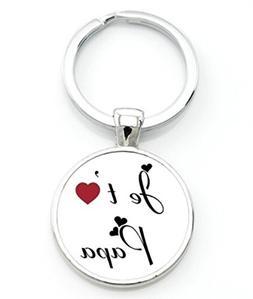 1 Pc Mini Pocket I Love Daddy This Much Keychain Keyring Key