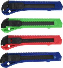 Multi Color Utility Knife Box Cutters pack of 4 Heavy Duty I