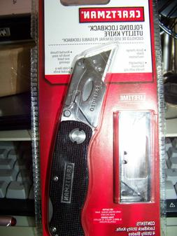 NEW Craftsman BLACK Metal Folding Lockback Utility Knife Inc