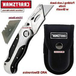 NEW Craftsman Metal Folding Lockback Utility Knife PREMIUM W